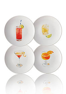 Rachael Ray Dinnerware Cocktails 4-Piece Stoneware Party Plate Set