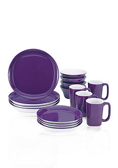 Rachael Ray Round and Square 16-Piece Dinnerware Set
