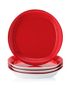Rachael Ray Round and Square 4-Piece Salad Plate Set