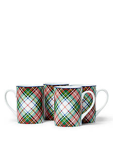 Ralph Lauren Set of 4 Templeton Tartan Mugs