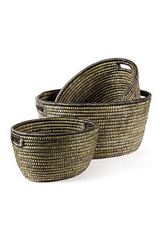 Napa Home & Garden™ Set of 3 Rivergrass Baskets with handles