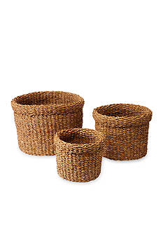 Napa Home & Garden™ Seagrass Round Baskets w/ Cuff Set of 3