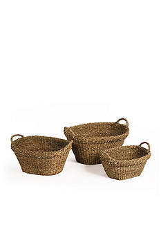 Napa Home & Garden™ Seagrass Set of 3 Tapered Baskets with Handles
