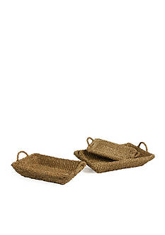 Napa Home & Garden™ Seagrass Set of 3 Trays with Handles