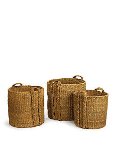 Napa Home & Garden™ Seagrass Set of 3 Large Round Baskets
