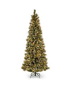 National Tree Company 7.5-ft. Glittery Bristle Pine Slim Hinged Tree
