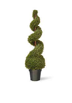 National Tree Company Cedar Spiral with Ball in Green Pot