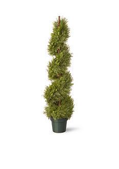 National Tree Company Juniper Slim Spiral w/ Green Pot