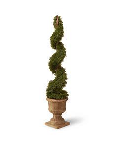 National Tree Company Cedar Spiral In Urn