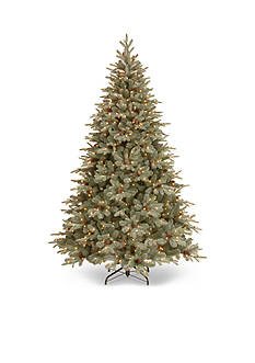 National Tree Company 7.5-ft. Frosted Arctic Spruce Hinged Tree with Cones