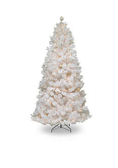 National Tree Company 7.5-ft. Wispy Willow Grande White Slim Hinged Tree