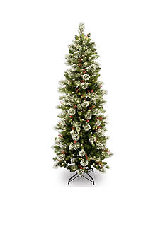National Tree Company 7.5-in. Wintry Pine Slim Hinged Tree