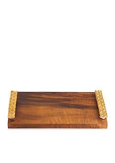 MICHAEL WAINWRIGHT Wood Cheese Tray/Knife