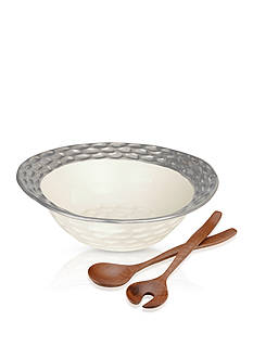 MICHAEL WAINWRIGHT Truro Platinum Salad Bowl with Servers