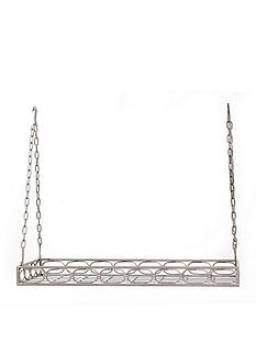 Old Dutch International, Ltd. Antique Pewter Rectangular Pot Rack w/ 16 Hooks