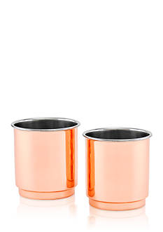 Old Dutch International, Ltd. 2-ply Solid Copper and Stainless Steel Whiskey Tumblers, Set of 2