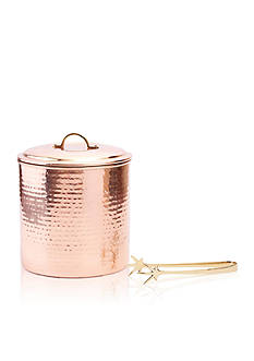 Old Dutch International, Ltd. Hammered Decor Copper Ice Bucket W/ Liner & Tongs