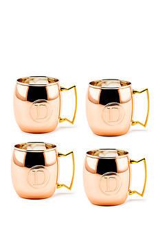 Old Dutch International, Ltd. Set of 4 Solid Copper Moscow Mule Mugs Monogrammed