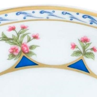Designer Tabletop: Chateaublu Bernardaud Chateaubriand Blue Tea Saucer