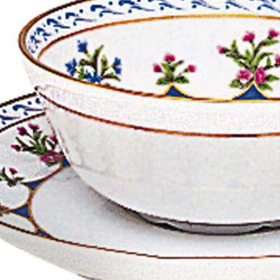 Designer Tabletop: Chateau Blue Bernardaud Chateaubriand Blue Tea Saucer