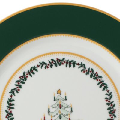Christmas Dinnerware: Green Bernardaud GRENADIERS GRNTREEPL
