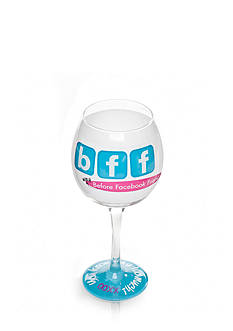 Mud Pie BFF Wine Glass