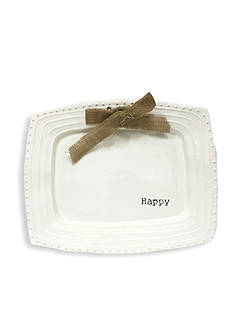 Mud Pie Circa 15-in. 'Happy' Platter