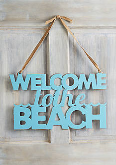 Mud Pie 'Welcome to the Beach' Word Sign