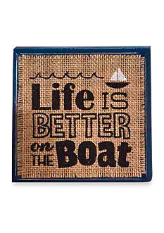 Mud Pie Sea Wood Plaque: Life Is Better