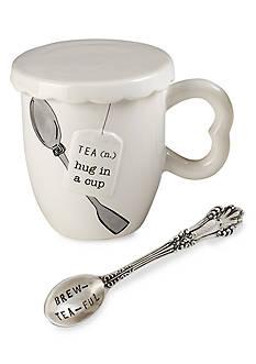 Mud Pie Circa 3-Piece 'Hug In A Mug' Tea Cup, Spoon, and Cover Set