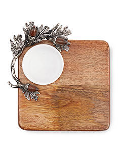 Mud Pie 2-Piece Acorn Cutting Board Dip Set