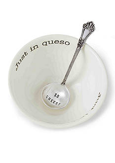 Mud Pie Circa 2-Piece 'Just In Queso' Dip Bowl and Ladle Set
