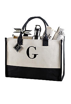 Mud Pie Canvas Initial Tote