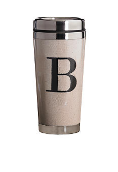 Mud Pie Canvas Stainless Steel Tumbler