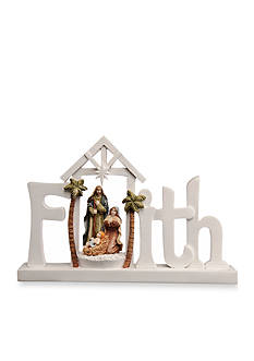 Ganz Faith Nativity Light Up Figurine
