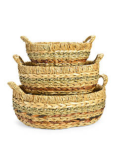 Caffco 3-Piece Oval Ear Handle Baskets