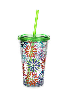 Clay Art Floral 16-oz. Tumbler
