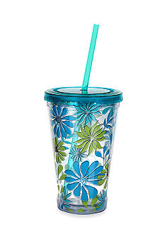 Clay Art Blue Peacock 16-oz. Tumbler