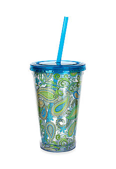 Clay Art Blue Paisley 16-oz. Tumbler