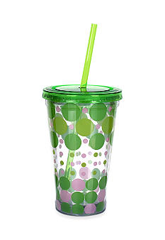 Clay Art Green Dot Giraffe 16-oz. Tumbler