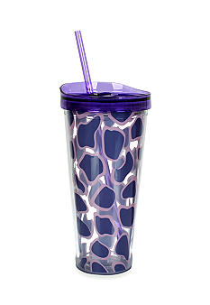Clay Art Purple Giraffe 22-oz. Tumbler