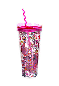 Clay Art Pink Peacock 22-oz. Tumbler
