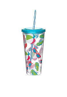 Clay Art Hangin' Flipflop 22-oz. Tumbler with Straw