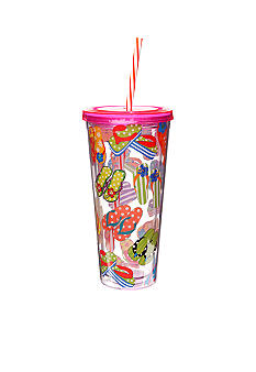 Clay Art Summer Flipflop 22-oz. Tumbler with Straw