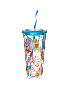 Clay Art Beach Icon 22-oz. Tumbler with Straw