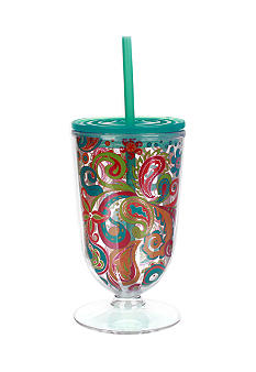 Clay Art Paisley Footed Iced Tea Tumbler