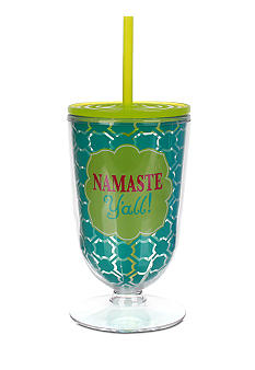 Clay Art Namaste Y'all Footed Ice Tea Tumbler