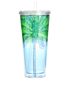 Clay Art Palm Tree 22-oz. Tumbler With Straw