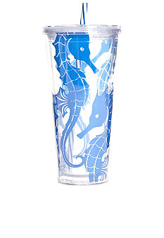 Clay Art Coastal Seahorse 22-oz. Tumbler With Straw