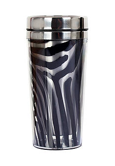 Clay Art Black Zebra Stainless Steel 14 oz Travel Tumbler